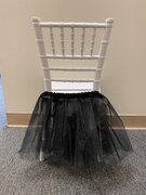 BLACK TUTU FOR KIDS CHAIRS