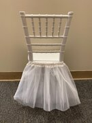 WHITE TUTU FOR KIDS CHAIRS