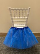 BLUE TUTU FOR KIDS CHAIRS