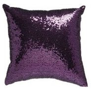 Purple Sequin Pillow