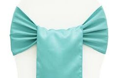 TURQUOISE CHAIR SASH (LAMOUR)