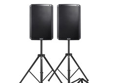 "ALTO 15"" POWERED SPEAKERS WITH STANDS"