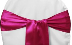 FUSCHIA CHAIR SASH