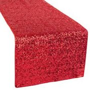 "RED SEQUIN TABLE RUNNER (12""X108"")"