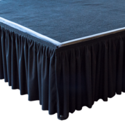 Black 8ft Stage Skirting