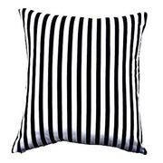 BLACK AND WHITE STRIPED PILLOWS