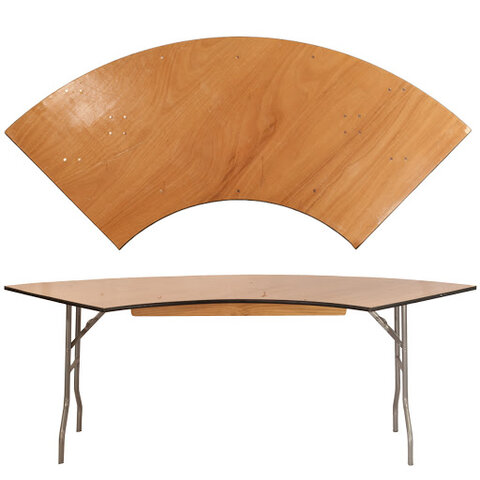 6ft Serpentine Table (WOOD)