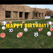 Sports Happy Birthday Yard Sign