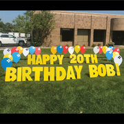 Balloon Happy Birthday Yard Sign