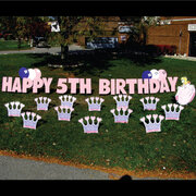 Princess Birthday Yard Sign