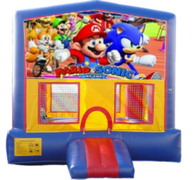 Mario and Sonic Bounce House