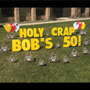 Poop Emoji Birthday Yard Sign