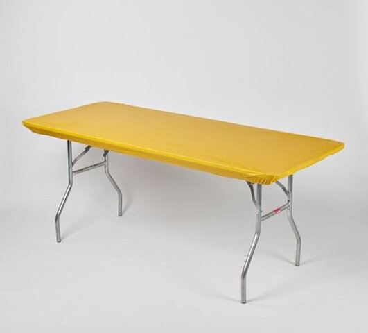 6' Banquet Kwik-Cover Yellow