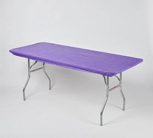 6' Banquet Kwik-Cover Purple