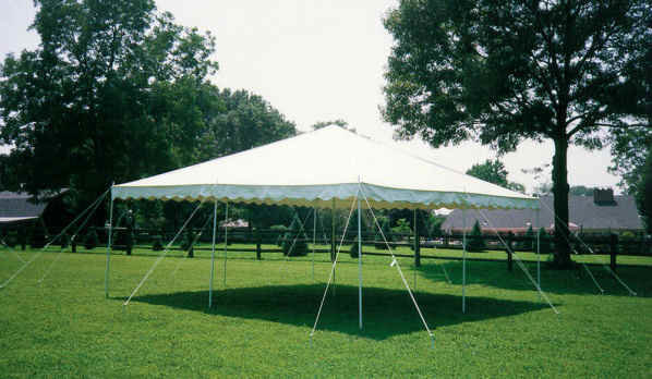 30' x 75' Canopy-Blue & White Stripes