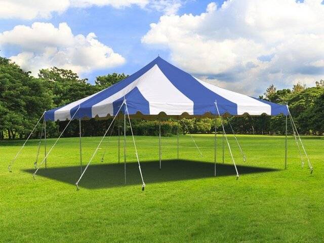 20' x 20' Blue & White Canopy
