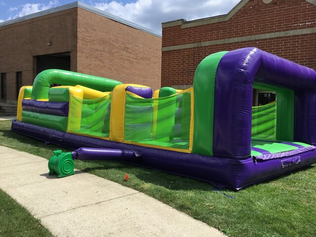Green and Purple Obstacle Course