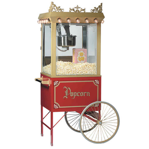 Popcorn Maker on Antique Cart (8oz.)