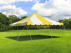 20' x 20' Yellow & White Canopy