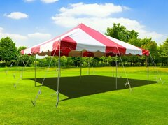 20' x 20' Red & White Canopy