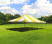 20' x 30' Yellow & White Canopy