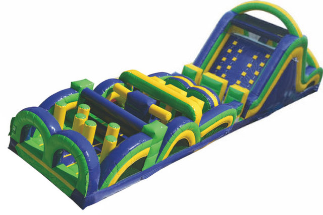 61' Rad Run Obstacle Course w/ Slide - B and C