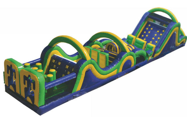 70' Fun Run Obstacle Course with Slide - A and C