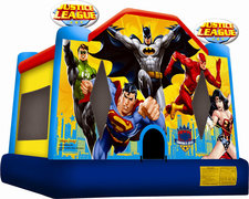 Justice League Bounce House and Choice of Concession Machine