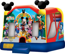 Mickey Mouse Wet or Dry Bounce House and Slide Combo