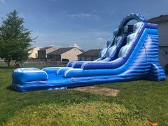 19' Blue Ice Water Slide