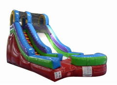 15' Single Lane Retro Color Dry Slide