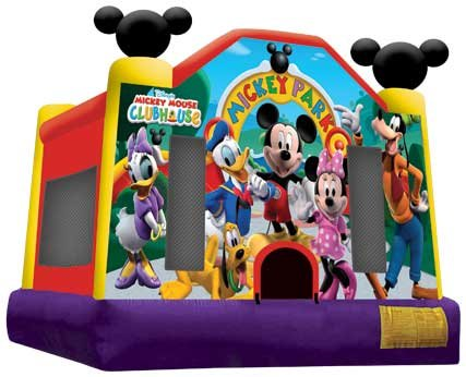 Mickey Mouse Bounce House, Concession Machine & Game