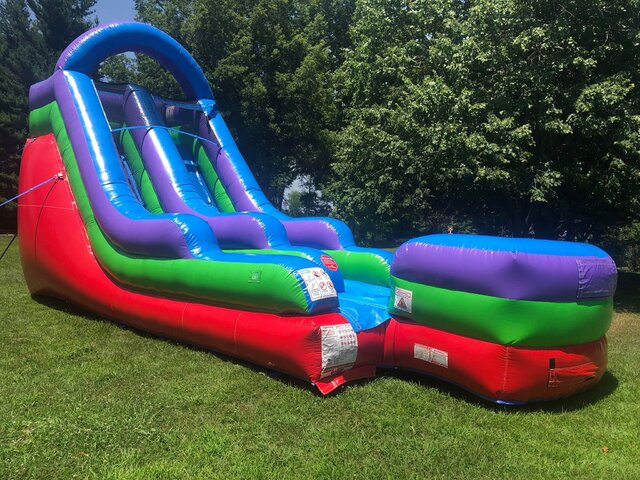 15' Single Lane Retro Color Water Slide