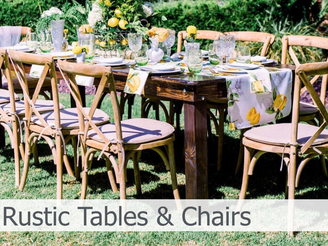 Rustic Tables and Chairs