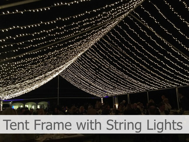 Tent Frame with string lights