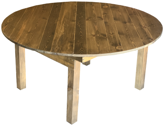 Table - 60in Round Rustic Table