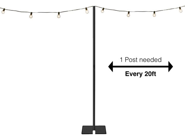10ft high String Light Post