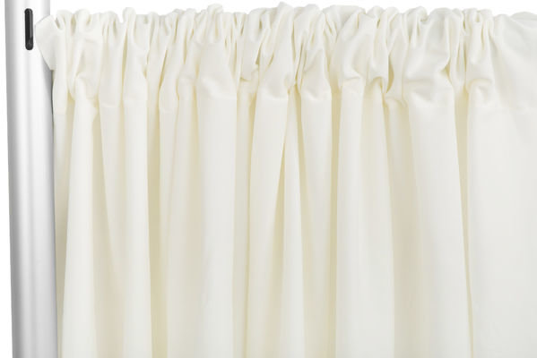 Ivory Poly Pipe and Drape- 8ft High, 36-60ft Wide