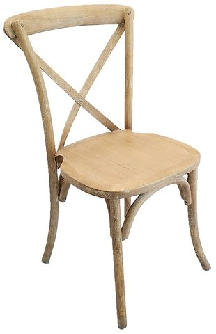 Chair - Lime wash Cross Back Chair (With Cushion)