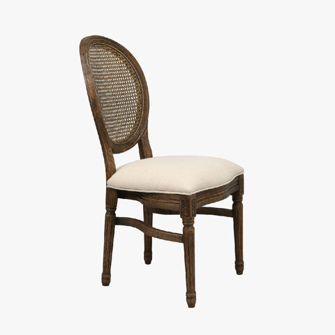 Louis Rattan Back Chair