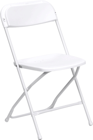 White Standard Folding Chair