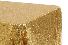 "<p>Gold Glitz 90x132 Tablecloth</p> <p><span style=""color: #008080;"">Fits our <strong><a href=""https://rickyspartyrentals.com/items/6ft_long_table/"" style=""color: #008080;"">6ft Long Tables</a></strong>&nbsp;too the floor</span></p>"