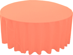 "120"" Round Tablecloth (Polyester/Coral)"