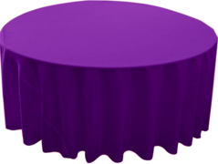 "120"" Round Tablecloth (Polyester/Magenta)"