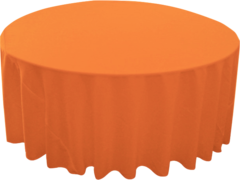 "120"" Round Tablecloth (Polyester/Orange)"