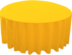 "120"" Round Tablecloth (Polyester/Yellow)"
