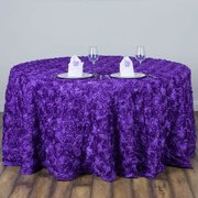 "120"" Round Tablecloth (Rosette/Purple)"