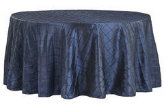 "120"" Round Tablecloth (Pintuck/Navy)"