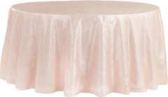 "120"" Round Tablecloth (Pintuck/Blush)"