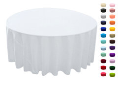 "<p>120in Round Tablecloth</p> <p><span style=""color: #008080;"">Fits our <a style=""color: #008080;"" href=""https://rickyspartyrentals.com/items/60in_round_table/""><strong>60in Round Tables</strong></a> too the floor</span></p>"